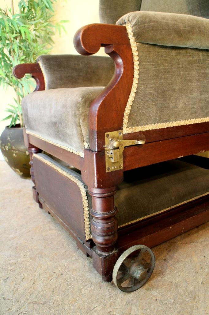 Victorian Mahogany Reclining Invalid S Wing Armchair